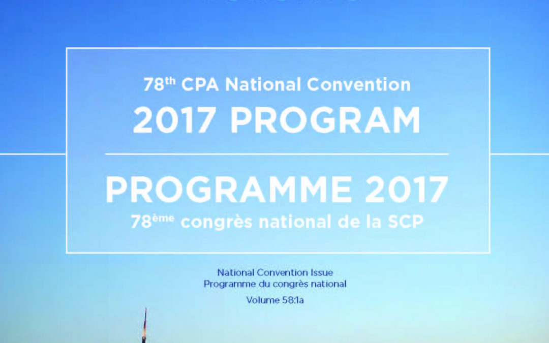 The Complete 2017 CPA National Convention Program Abstract Book – Just Released!