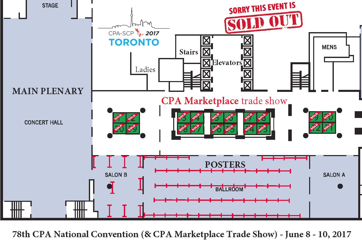 Trade Show Floor Plan: CPA Annual Convention 2019