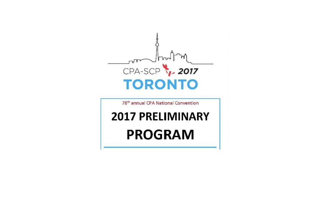 2017 Preliminary Program Just Released!